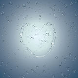 Heart water drops. Vector Royalty Free Stock Image