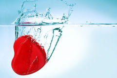 Heart in water Stock Photos