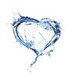 Heart from water splash Royalty Free Stock Photography