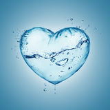 Heart water splash Stock Images