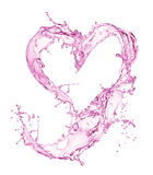 Heart from water splash with bubbles Royalty Free Stock Photos