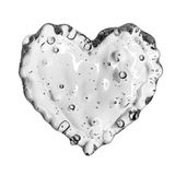 Heart from water splash with bubbles isolated on white Stock Photography