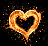 Heart from water stock photography