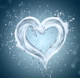 Heart from water Stock Images
