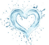 Heart from water Stock Image