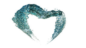 Heart water splash Royalty Free Stock Photos