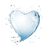 Heart of water splash isolated Stock Photography
