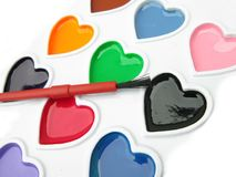 Heart Watercolor Royalty Free Stock Photos