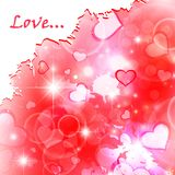 Heart watercolor background Royalty Free Stock Image