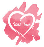 vector heart on watercolor background Royalty Free Stock Images