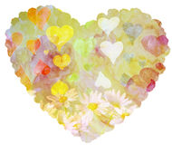 The heart of watercolors isolated on a white background Stock Photo
