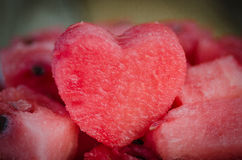 The heart of the watermelon Royalty Free Stock Photo