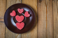 The heart of the watermelon. Slices of watermelon on a plate Royalty Free Stock Image