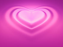 Heart wave pink Stock Photos