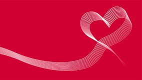 Heart wave ribbon vector icon background Royalty Free Stock Photos