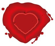 Heart, wax seal Stock Photo
