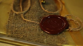 Heart Wax Seal. And rope stock video footage