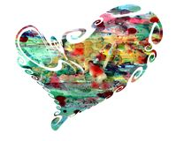 Heart. Waxy colorful isolated heart. royalty free stock photo