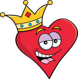 Heart wearing a crown Royalty Free Stock Images