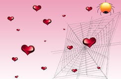 Heart and web Royalty Free Stock Images