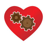 Heart with wheels Royalty Free Stock Image