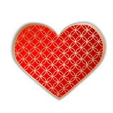 The heart which azhurno is cut out from paper, isolated against. The background of. Vector illustration Royalty Free Stock Photo