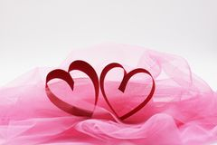Heart on white background Stock Photography
