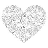 Heart  on white background. Stock Photography