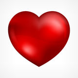 Heart on white Stock Photos