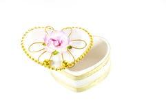 Heart white box Stock Image
