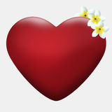 Heart width flowers Royalty Free Stock Image
