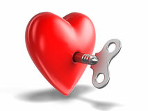 Heart and Windind key Royalty Free Stock Photography