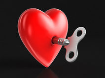 Heart and Winding key Royalty Free Stock Images