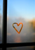 Heart on a window Stock Images
