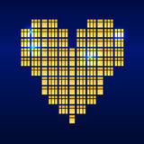 Heart of windows. Heart bit. Pixel art. Love. Stock Photography