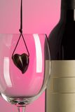 Heart and wine Royalty Free Stock Photography