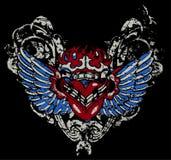 heart wing tattoo Stock Photo