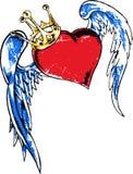 Heart wing tattoo Royalty Free Stock Photos