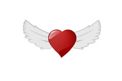 Heart wing, Vector file. Royalty Free Stock Photos