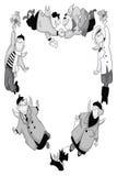 Heart winged people clipart cartoon style  illustration Stock Image