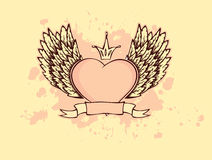 Heart with wings. Vector illustration Stock Images