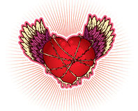 Heart with wings. Illustration Royalty Free Stock Photo