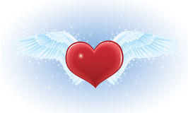 Heart and wings. Royalty Free Stock Image