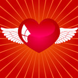 Heart with wings. This illustration depicts a red heart with wings Royalty Free Stock Photography