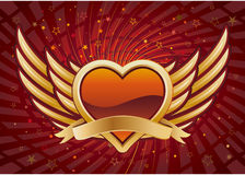 heart and wings Stock Photography