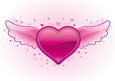 Heart and wings Stock Photo