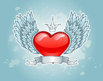 Heart with wings. Vector illustration of Heart with wings Stock Images