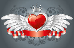 Heart with wings Stock Photo