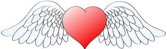 Heart with wings 2 Royalty Free Stock Image