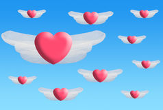 Heart wings Royalty Free Stock Images